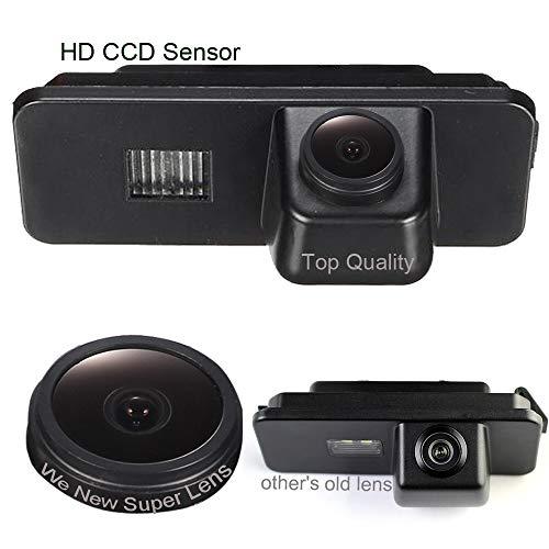Caméra de recul de Plaque d'immatriculation, 1000TV Super Pro Lens, Système de recul par capteur de recul, pour VW New Beetle Passat CC 4D Phaeton Scirocco Polo Golf 5 V MK4/MK5/MK6 Variant