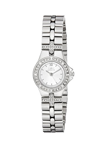 Invicta Women's Wildflower 21.5mm Crystal Accented Stainless Steel Quartz Watch, Silver (Model: 0132)
