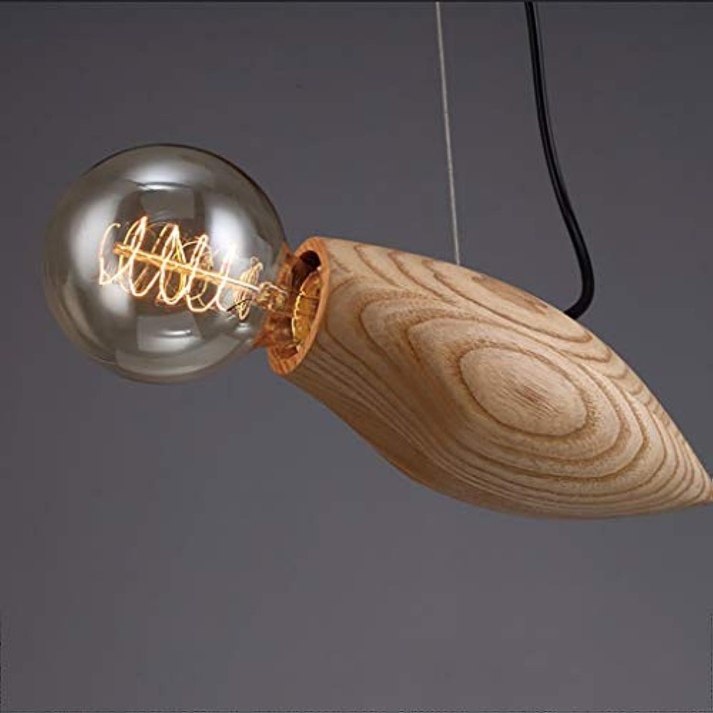 Kronleuchter Kronleuchter Nachttisch Schlafzimmer Holz Massivholz Kronleuchter Vogel Form Holz Farbe LED Kronleuchter (Licht 8cm)