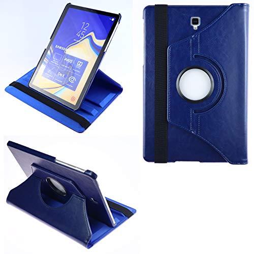 COOVY® 2.0 Custodia per Samsung Galaxy TAB S4 10.5 SM-T830 SM-T835 SMART 360° GRADI DI ROTAZIONE COVER SUPPORTO PROTEZIONE CASE Auto Sveglia/Sonno | blu scuro