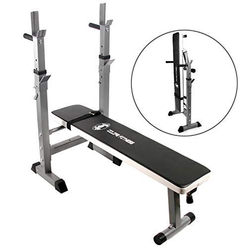 CCLIFE Banc de Musculation Multifonction Banc muscu avec haltre Long et disques (200kg)- Station Musculation