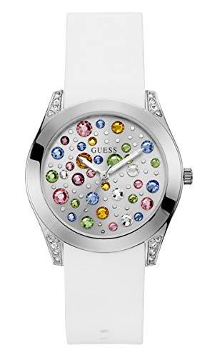 Guess Reloj Analógico para Mujer de Cuarzo con Correa en Silicona W1059L1
