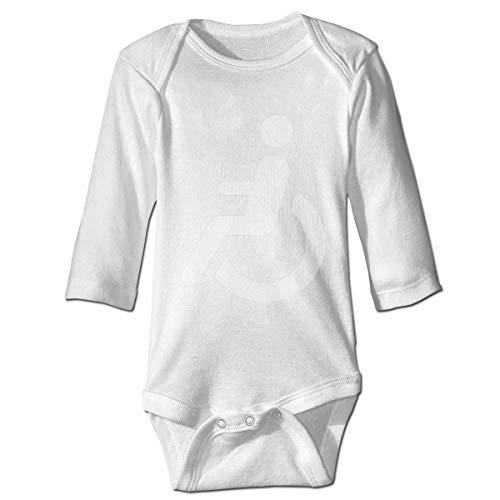 AOOEDM Rollstuhl Logo Baby Langarm Bodysuit Outfits Weiche Strampler