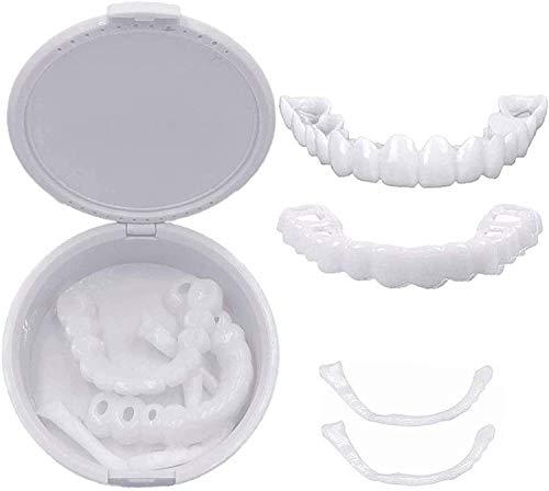 Accolades Facettes dentiers, Dents cosmétiques temporaire Dents prothétiques esthétique Simulé Appareil Dentaire, Les Dents cosmétiques Confortables placage pour dentiers Sourire Parfait,2pair
