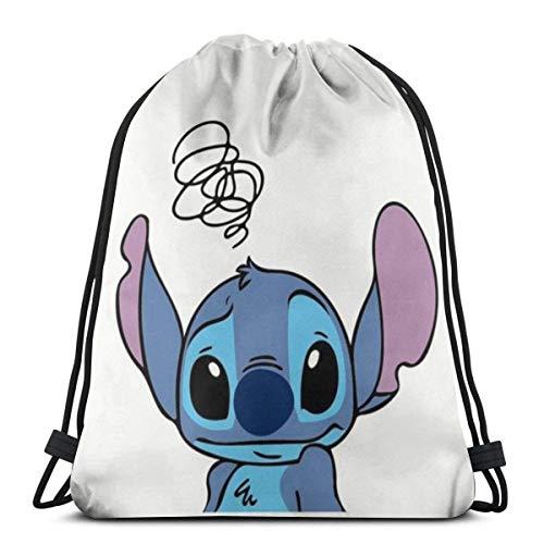 Etryrt Drawstring Bag Confused Stitch Gym Backpack Shoulder Bags Sport Storage Bag for Man Women