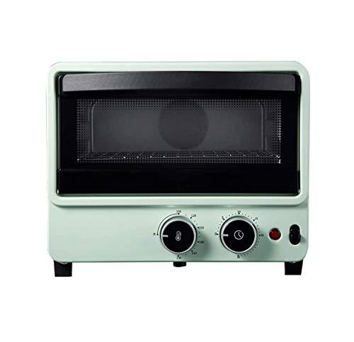 ZOUSHUAIDEDIAN Horno de tostadora con tostadora con asador Superior y Plancha de Plancha, hornee, Parrilla, asado, Tostadas, Mantenimiento cálido, Horno Esencial en la Cocina, Verde (Color : Green)