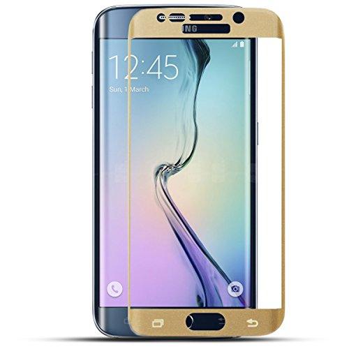 Protège-écran de verre trempé 9H de meilleure qualité de Blue Star pour Samsung G925 Galaxy S6 Edge, visage complet en Or
