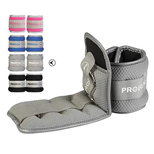 PROIRON Gewichtsmanschetten Fuß/Handgelenk Gewichte Fitness Set 0,5kg bis 2kg 1 Paar für Beine und Arme Knöchel Gewicht für Fitness, Bewegung, Laufen, Joggen, Gymnastik