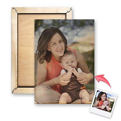 Getsingular Lienzo de Madera Personalizado con Tus Fotos y Texto | Dis