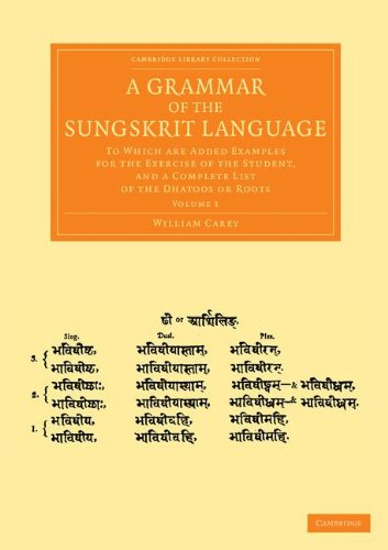 A Grammar of the Sungskrit Language: To Which Are Added Examples for the Exercise of the Student, and a Complete List of the Dhatoos or Roots ... from the Royal Asiatic Society) (Volume 1)