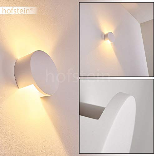 Wandlamp Tortel van keramiek in wit, wandlamp met lichteffect, 1 x G9 fitting, max. 25 Watt, interieur wandlamp kan worden beschilderd met standaard kleuren, Up & Down effect