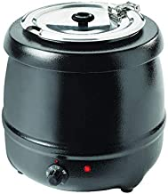 Bouilloire Soupe, Extérieur revêtu de poudre noire, 35 ° C à 80 ° C, 6 positions de thermostat, 400 Watts, 10L