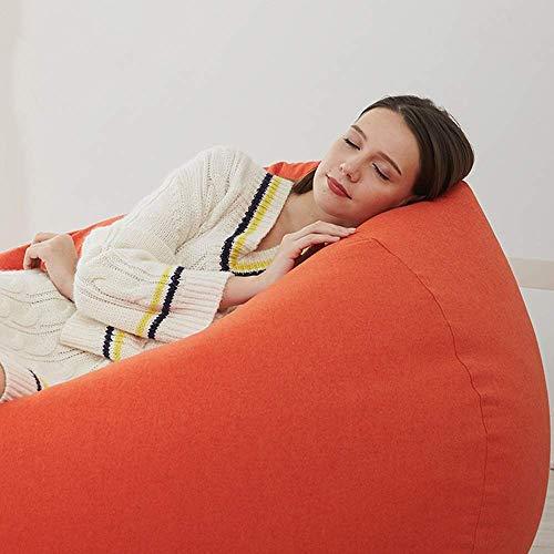 Sofá Perezoso Puf Sillas Adulto Grande Perezoso del sofá del Dormitorio balcón Silla Perezosa (Color: Azul, tamaño: L) Sofá Lento (Color : Orange, Size : Large)