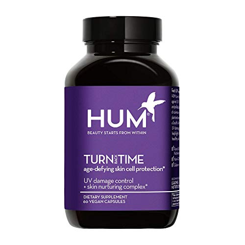 HUM Turn Back Time - Youthful Skin Anti-Aging Turmeric Supplement - Help Minimize Visible Signs of Aging & Promote Even Skin Tone with Green Tea Polyphenols, Turmeric & Lutein (60 Vegan Capsules)