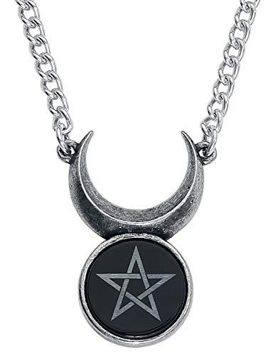 Alchemy Gothic England - Sin-Horned God Crescent Moon & Wiccan Pentagram Pendant