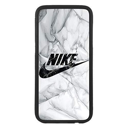 custom-cases Funda Carcasa de TPU para movil con diseño de Nike imita el marmol Logotipo Compatible con Huawei p8 Lite (2017)