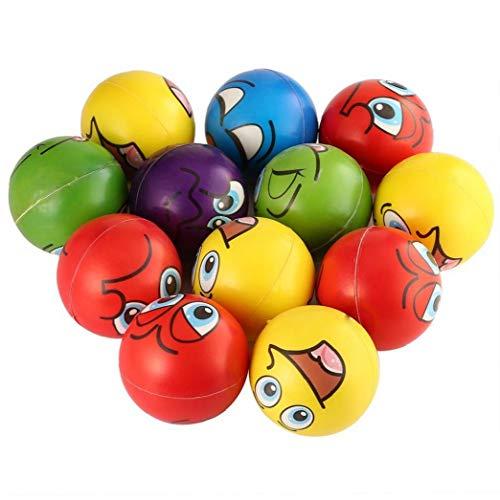 YZLSM Gesichtsausdruck Stressball Relief Spielzeug Zufällige Farbe 12st Dia. 6.3cm Squeeze Laterne Laterne Handgriff