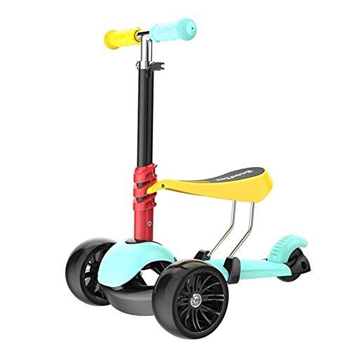 Great Price! Lcxliga Scooter for Kids with Folding/Removable Seat – Adjustable Height,3 Wheels Kic...