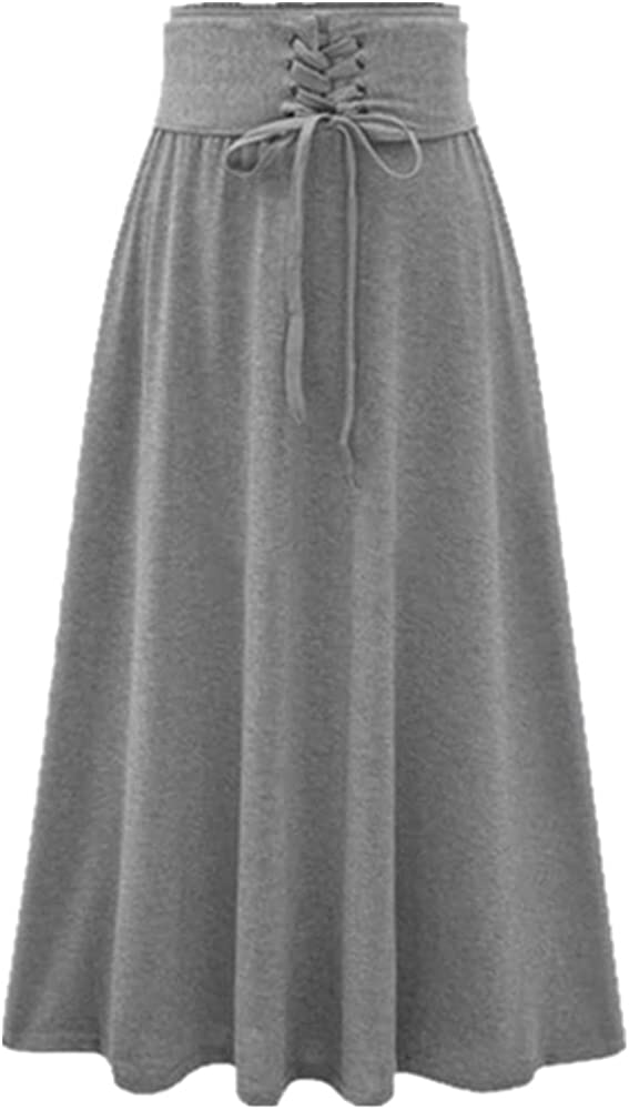 NP Women Clothes Casual Long Skirts for Women Color Big Swing Skirt Spring Female