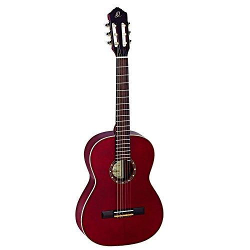 Ortega R121-7/8 Konzertgitarre (Größe: 7/8, Luxus-Gigbag) weinrot