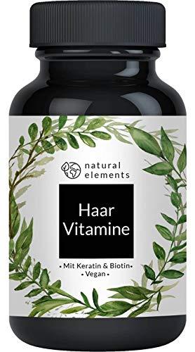 Haar Vitamine - Einführungspreis - 180 Kapseln - Premium: Hochdosiert mit Keratin, Biotin, Selen, Zink, Hirseextrakt, bioaktiven B-Vitaminen & mehr - Laborgeprüft und hergestellt in Deutschland