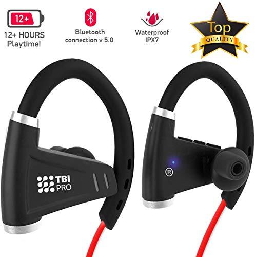 12+Hours Sport Bluetooth Headphones - Professional Wireless Sport Earphones w/Mic - IPX7 Waterproof Deep Bass Music in-Ear Earbuds for Gym, Exercise, Running Workout for Men, Women