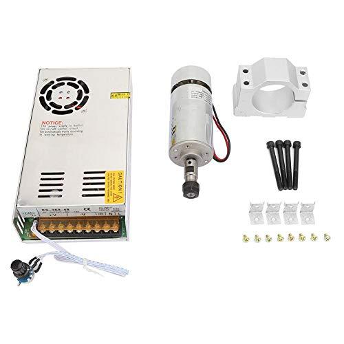 300W Spindelmotor , AC110V/220V 12-48VDC Hochgeschwindigkeits-Luftgekühlter Spindelmotor Bürstenmotor , Einstellbare Spannung Stufenlose Drehzahlregelung Gleichstrommotor