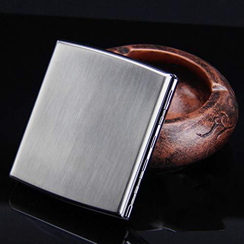 YXZN Metall Zigarettenetui Ultra Thin Portable Herren Edelstahl Wasserdicht Und Druckbeständig Zigaretten Halter,Capacity20,90X18X80MM