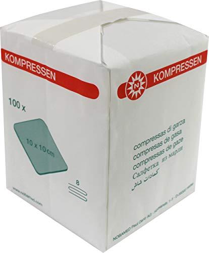Kompressen 1000 Stück (10 x 100) 8-fach verschiedene Größen von Noba Verbandmittel (10 x 10 cm)