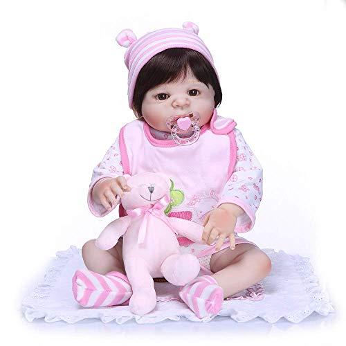 FACAIA Rebirth Doll, Juguetes para niños Reborn de Cuerpo Completo de Silicona Reborn Baby Realistic Newborn Baby 23