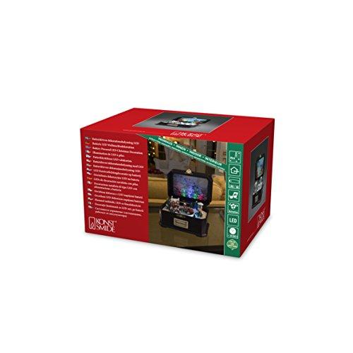 Konstsmide 3405-000 LED Spieluhr mit Kindern, mit Animation und Weihnachtslied / für Innen (IP20) / 6 bunte Dioden / Batteriebetrieben: 3 x AA 1.5V (exkl.)