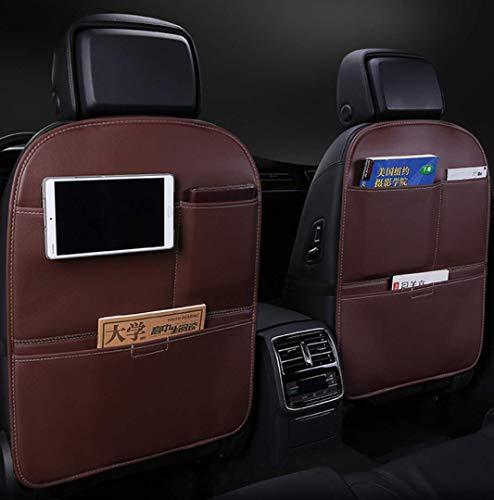 MAWA paquete de 2 Kick Mats asiento trasero del coche protector protege de la suciedad, desgastes, bolsillos organizadores, Asiento impermeable contraportada