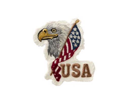 USA Flagge Adlerkopf - Aufnäher Aufbügler Applikation Patch