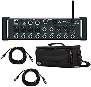 Behringer X Air XR12 Digital Mixer Bundle with Case and Cables