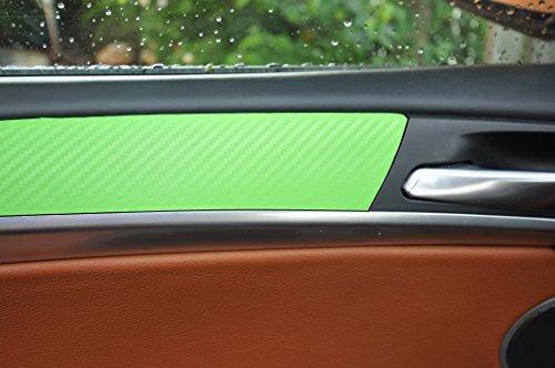 12 tlg. Carbon Grün Interieurleisten 3D Folien SET 100µm stark , Türleisten, Mittelkonsole, Aschenbecher passend für Ihr Fahrzeug