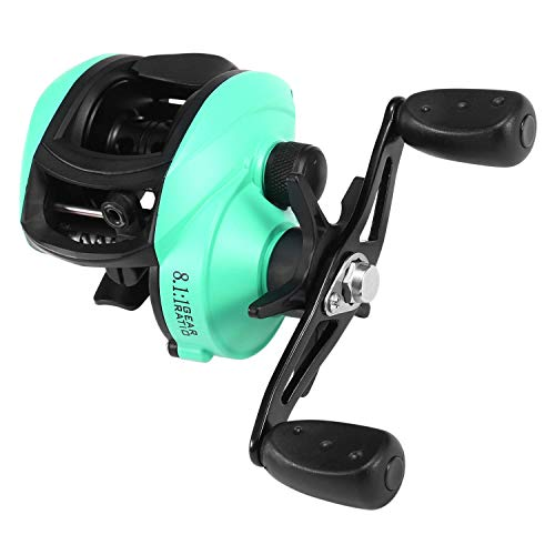 DZX Carrete de Pesca de Cebo de 12 + 1 rodamientos de Bolas Carrete de Lanzamiento de Cebo de Pesca con relación de Engranaje 8.1