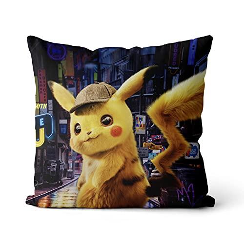 Housse De Coussin Pokémon Convient pour Jardin Terrasse Banc Canapé Ferme Décoration Housse De Coussin Coussin De Jet Velours 40 * 40Cm 16 *16 inch
