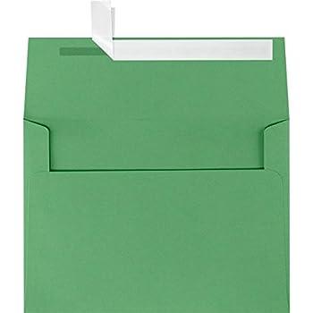 A9 Invitation Envelopes w/Peel & Press (5 3/4 x 8 3/4) - Holiday Green (50 Qty.)