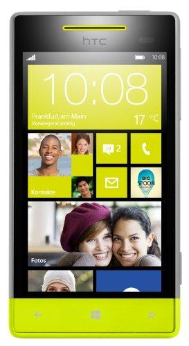HTC Windows Phone 8S Smartphone (Qualcomm 1 GHz S4 Prozessor, 10,2 cm (4 Zoll) Touchscreen, 5 Megapixel Kamera, 512MB RAM) High-Rise grau/gelb