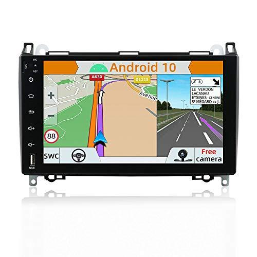 YUNTX Android 10 Autoradio Kompatibel mit Mercedes Benz Viano/Sprinter/W906-9 Zoll GPS mit navi Bluetooth - 2G32G / Dab+ / Lenkradsteuerung/USB/Carplay/WiFi/4G/MirrorLink (mit rückfahrkamera)