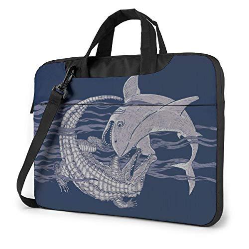 Bolsa de hombro para portátil de 13 pulgadas, diseño de cocodrilo de tiburón con asa, funda protectora para Ultrabook, MacBook, Asus, Samsung, Sony, Notebook