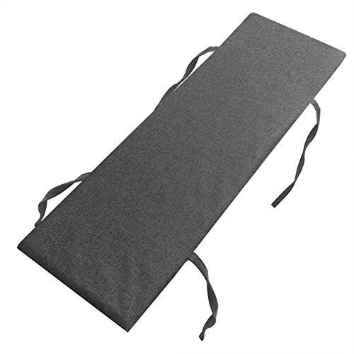 Xpnit - Cuscino per panca da 2 a 3 posti, antiscivolo, 100 120 cm, morbido cuscino per panca da pranzo per interni ed esterni, lavabile (120 x 35 cm, grigio scuro)