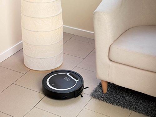 Ariete 2718 Xclean Robot Aspirapolvere, Partenza Ritardata, Filtro HEPA, Autonomia 1.5 h, 65 dB, diametro: 30 cm, Capacità 300 ml, 25W, Nero