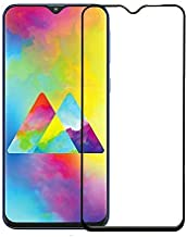 Takshak CASE FACTORY Tempered Glass Edge to Edge Full-Screen Coverage with Easy Installation Kit for Samsung Galaxy M20 (Black)