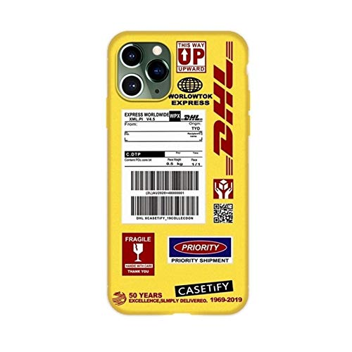 DSMYYXGS DHL- Funda de Silicona para móvil, Funda de para for iPhone 12 Mini 11 Pro X XS MAX XR 8 7 6 6s Plus SE (Color : 1, Size : For iPhone 8 Plus)