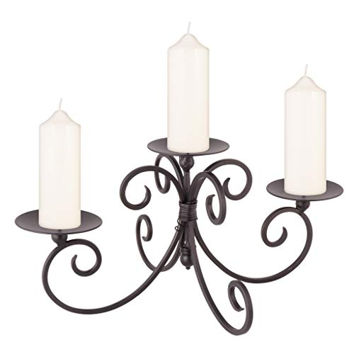 Dibor - French Style Accessories for the Home Tre pilastro Iron Candle Holder Display