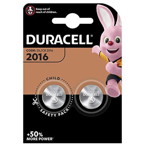 Duracell 2016Lithium-Batterien CR2016DL2016ECR2016, Verfallsdatum 2021, 2 Stück