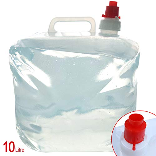 Schone producten (UK) Opvouwbare 10 liter Waterdrager Outdoor Camping Wandelen Road trips Trekking Opslag Kan – Aan/Uit TAP FUNCTIE