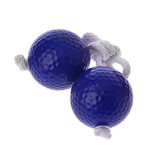 JERKKY 42mm Leiter Golfball Bola Stränge Raus Praxis 6mm String Ball blau