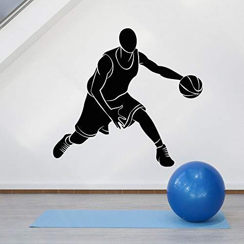 Calcomanía de pared para jugador de baloncesto, equipo de pelota para hombres, deporte, niños, niños, gimnasio, decoración